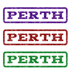 perth watermark stamp vector image