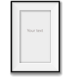 Picture frame isolated on white background vector image