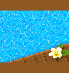 Realistic blue swimming pool vector