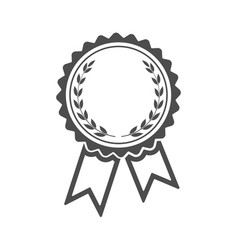 ribbons award with laurel wreath inside isolated vector image