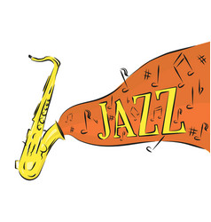 saxophone jazz music on a white background vector image