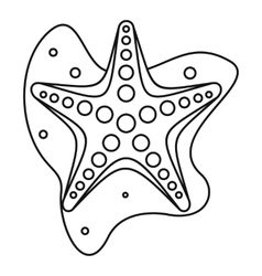 Sea star icon outline style vector