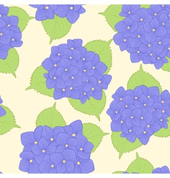 Seamless background with flower hydrangea vector