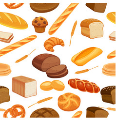 Seamless pattern bread vector