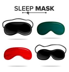 Sleep mask set isolated of vector