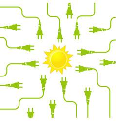 solar energy flat design concept vector image