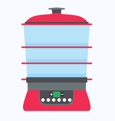 Steamer food icon cook cooking kitchen vector