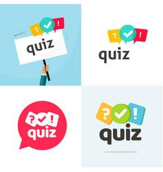 Test quiz logo icon flat cartoon vector