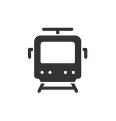 train front view glyph style icon vector image