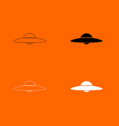 Ufo flying saucer icon vector