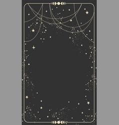Vintage celestial mystical background for vector