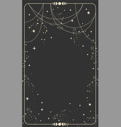 Vintage celestial mystical background vector