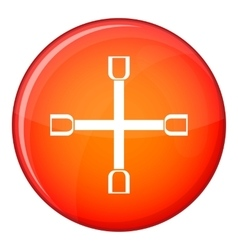 Wheel wrench cross icon flat style vector