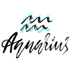 Zodiac sign of aquarius astrology vector