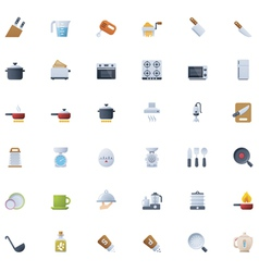 Cooking icon set vector image vector image