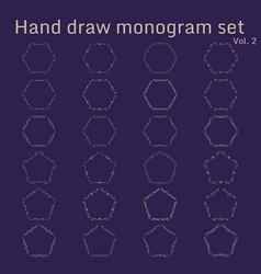 Bunch of simple and elegant monogram design vector