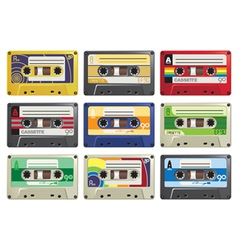 Cassette Tapes vector image vector image
