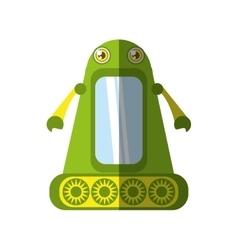 green robot technology innovation shadow vector image
