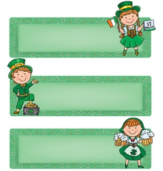 Happy St Patrick horizontal banners vector image vector image