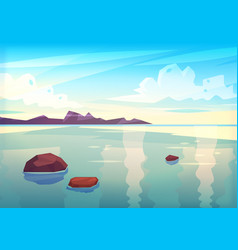 holidays by the sea view of the islands in the vector image vector image