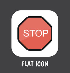 of safety symbol on stop sign vector image vector image
