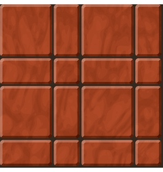 Reddish polished stone tiles texture vector image vector image