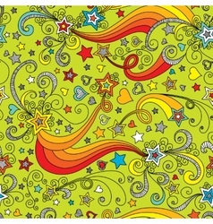seamless color star pattern vector image