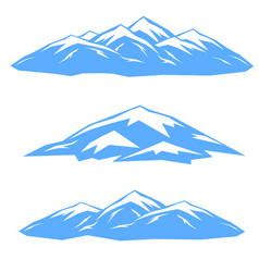 the set of blue ridges vector image vector image