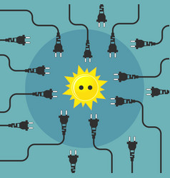 alternative energy flat design concept vector image