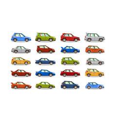 big set of cars collection vehicle sedan vector image
