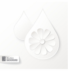 Drop icon with flower vector image vector image