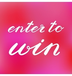 Enter to win banner for social media contests vector