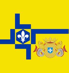 flag of lelystad of netherlands vector image vector image