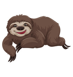 sloth with happy face vector image vector image
