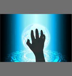 blue future technology cybercrime internet vector image vector image