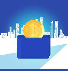 concept of virtual money digital cryptocurrency vector image