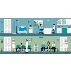 Examination rooms vector image