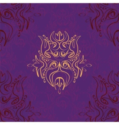 Stylized waterlily pattern vector image