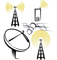 With a set of radio devices vector