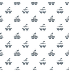 100 percent natural pattern seamless vector image