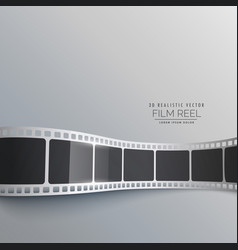 3d film strip background design vector