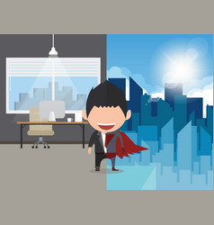 A happy face businessman a concept of balancing vector