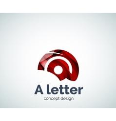 A letter concept logo template vector image