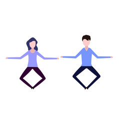 A man and a woman levitate vector