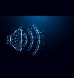 Abstract audio speaker volume form lines vector