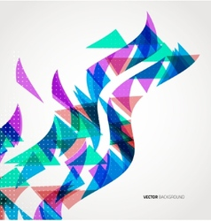 Abstract Triangle Geometric colorful wave vector
