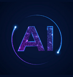 artificial intelligence concept circuit board vector image