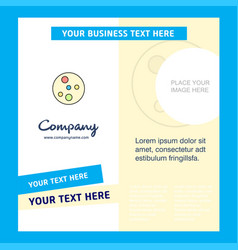 Bacteria plate company brochure template busienss vector