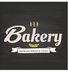 bakery premium bread cake ribbon malt background vector image