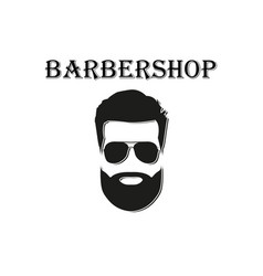 barber logo on a white background in flat style vector image